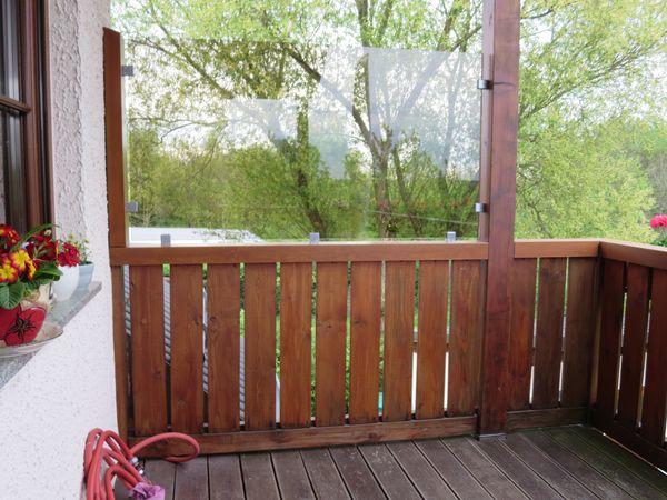 glaserei g rlich gmbh windschutz f r einen balkon. Black Bedroom Furniture Sets. Home Design Ideas